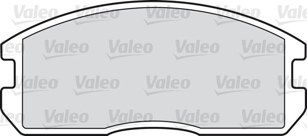 Kit de plaquettes de frein, frein à disque - VALEO - 598224