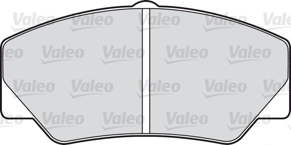 Kit de plaquettes de frein, frein à disque - VALEO - 598032