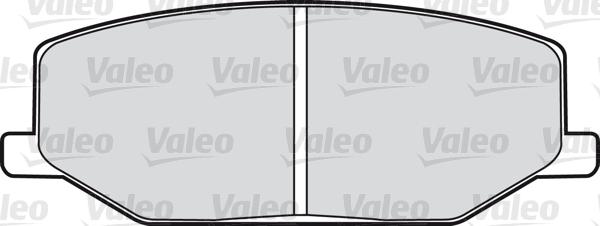 Kit de plaquettes de frein, frein à disque - VALEO - 598021