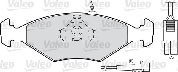 Kit de plaquettes de frein, frein à disque - VALEO - 598423