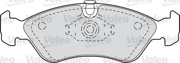 Kit de plaquettes de frein, frein à disque - VALEO - 598184