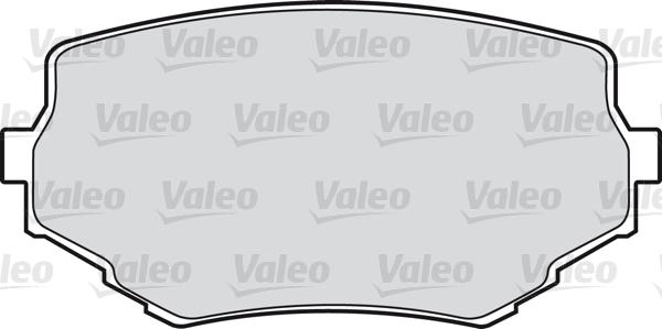 Kit de plaquettes de frein, frein à disque - VALEO - 598534