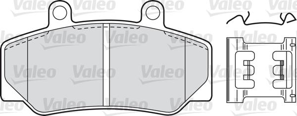 Kit de plaquettes de frein, frein à disque - VALEO - 598257