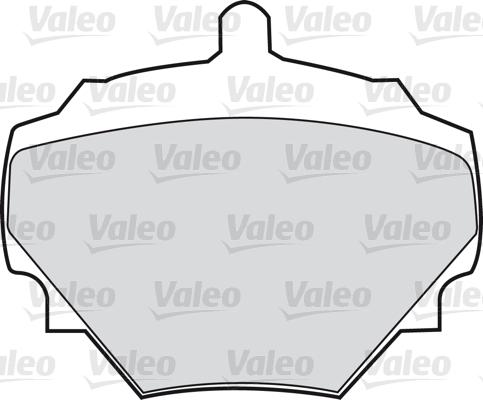 Kit de plaquettes de frein, frein à disque - VALEO - 598497