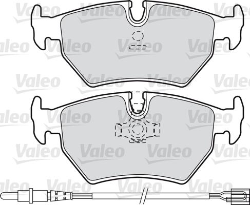 Kit de plaquettes de frein, frein à disque - VALEO - 598502