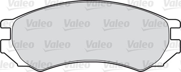 Kit de plaquettes de frein, frein à disque - VALEO - 598024