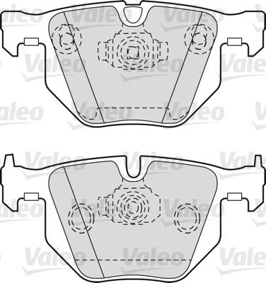 Kit de plaquettes de frein, frein à disque - VALEO - 598411