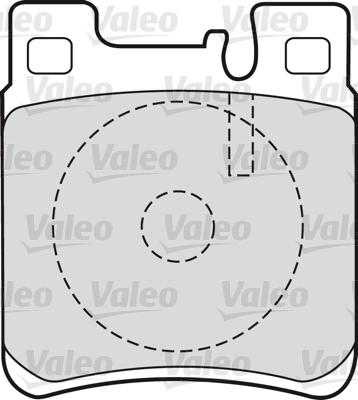 Kit de plaquettes de frein, frein à disque - VALEO - 598617