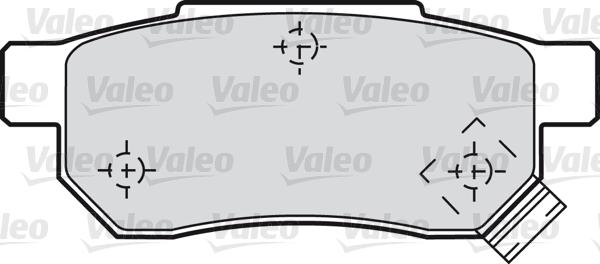 Kit de plaquettes de frein, frein à disque - VALEO - 598053