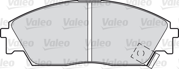 Kit de plaquettes de frein, frein à disque - VALEO - 598248