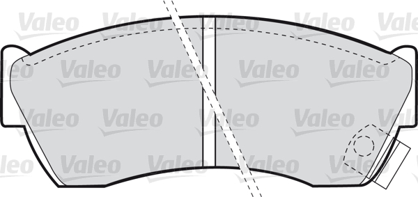 Kit de plaquettes de frein, frein à disque - VALEO - 598666