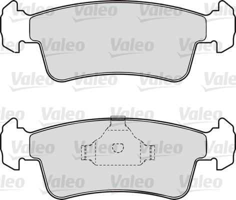Kit de plaquettes de frein, frein à disque - VALEO - 598532