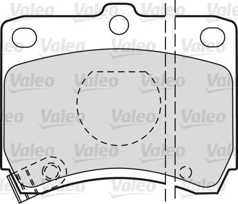 Kit de plaquettes de frein, frein à disque - VALEO - 598268