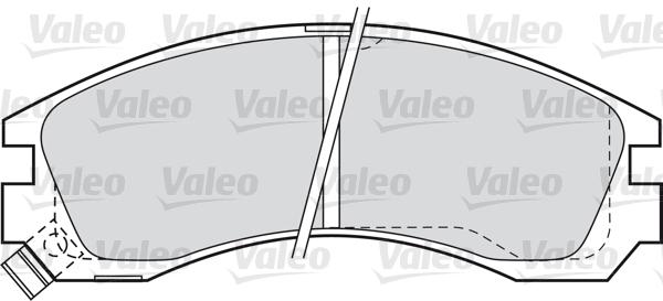 Kit de plaquettes de frein, frein à disque - VALEO - 598517