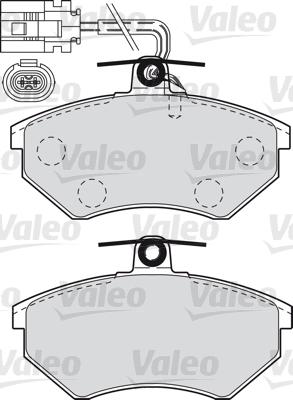 Kit de plaquettes de frein, frein à disque - VALEO - 598484