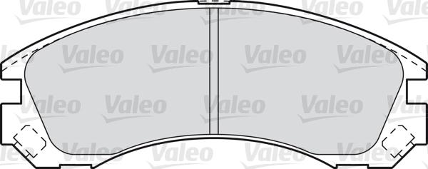 Kit de plaquettes de frein, frein à disque - VALEO - 601020