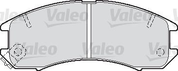 Kit de plaquettes de frein, frein à disque - VALEO - 598250