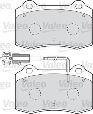 Kit de plaquettes de frein, frein à disque - VALEO - 598988