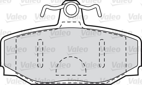 Kit de plaquettes de frein, frein à disque - VALEO - 598621