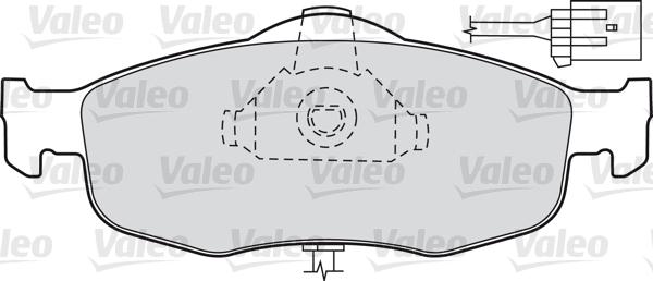 Kit de plaquettes de frein, frein à disque - VALEO - 598034