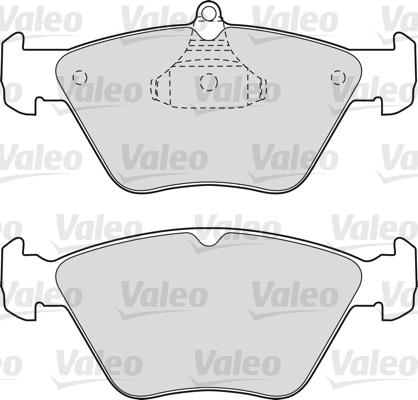 Kit de plaquettes de frein, frein à disque - VALEO - 598050