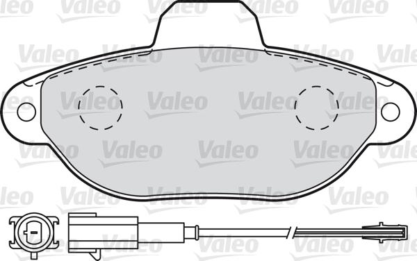 Kit de plaquettes de frein, frein à disque - VALEO - 598987