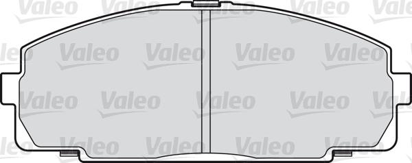 Kit de plaquettes de frein, frein à disque - VALEO - 598947