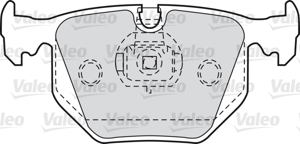 Kit de plaquettes de frein, frein à disque - VALEO - 598580