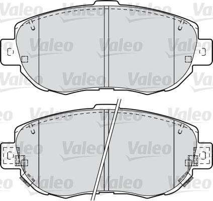 Kit de plaquettes de frein, frein à disque - VALEO - 601023