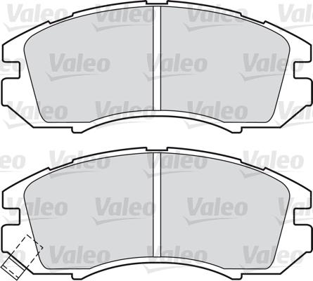 Kit de plaquettes de frein, frein à disque - VALEO - 598691