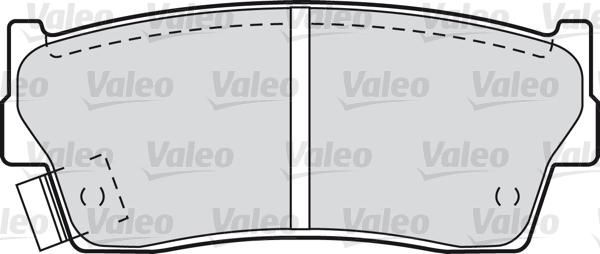 Kit de plaquettes de frein, frein à disque - VALEO - 598023