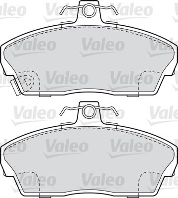 Kit de plaquettes de frein, frein à disque - VALEO - 598022