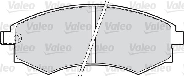 Kit de plaquettes de frein, frein à disque - VALEO - 598786