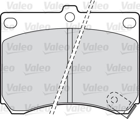 Kit de plaquettes de frein, frein à disque - VALEO - 598646