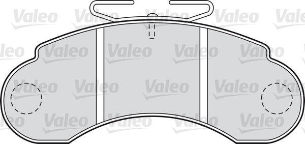 Kit de plaquettes de frein, frein à disque - VALEO - 598000
