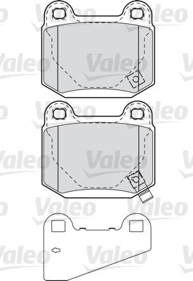 Kit de plaquettes de frein, frein à disque - VALEO - 598914
