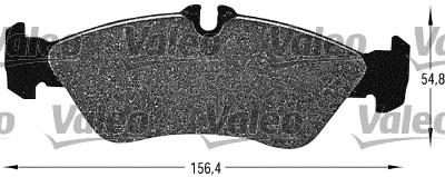 Kit de plaquettes de frein, frein à disque - VALEO - 598046
