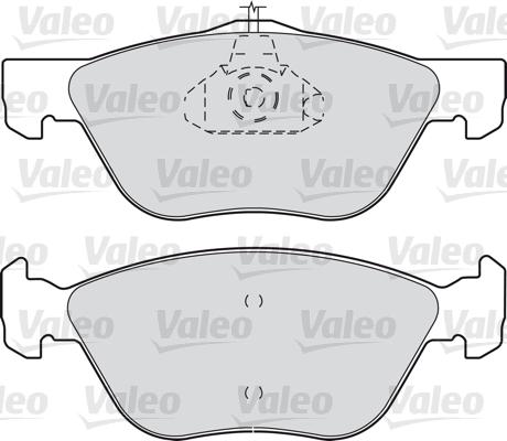Kit de plaquettes de frein, frein à disque - VALEO - 598065