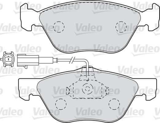 Kit de plaquettes de frein, frein à disque - VALEO - 598990