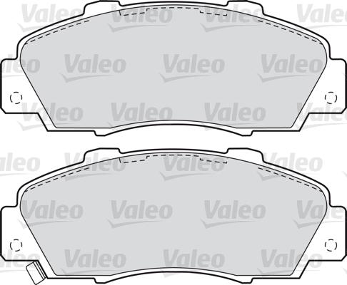 Kit de plaquettes de frein, frein à disque - VALEO - 598627