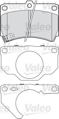 Kit de plaquettes de frein, frein à disque - VALEO - 601018