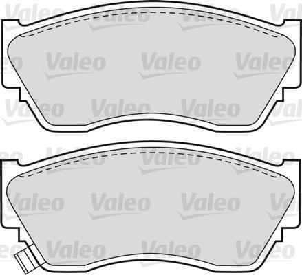 Kit de plaquettes de frein, frein à disque - VALEO - 598628