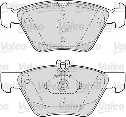 Kit de plaquettes de frein, frein à disque - VALEO - 598636