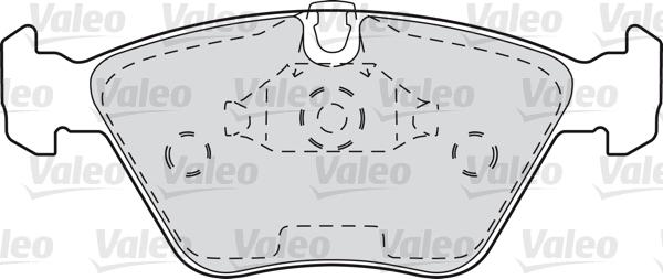 Kit de plaquettes de frein, frein à disque - VALEO - 598310