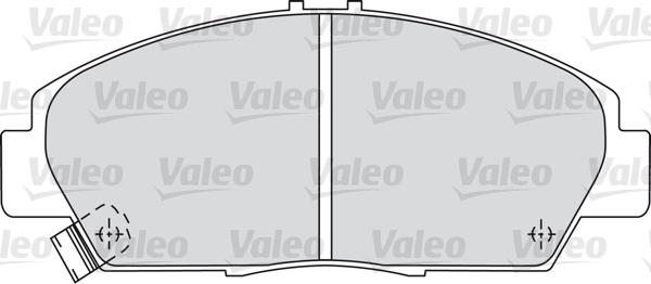 Kit de plaquettes de frein, frein à disque - VALEO - 598494