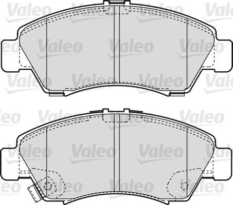 Kit de plaquettes de frein, frein à disque - VALEO - 598760