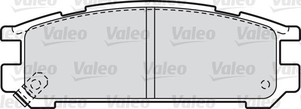 Kit de plaquettes de frein, frein à disque - VALEO - 598828
