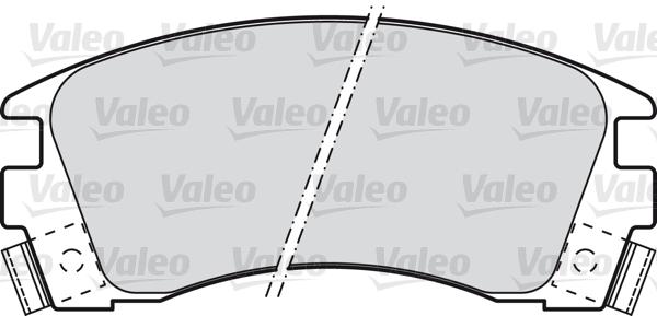 Kit de plaquettes de frein, frein à disque - VALEO - 598840