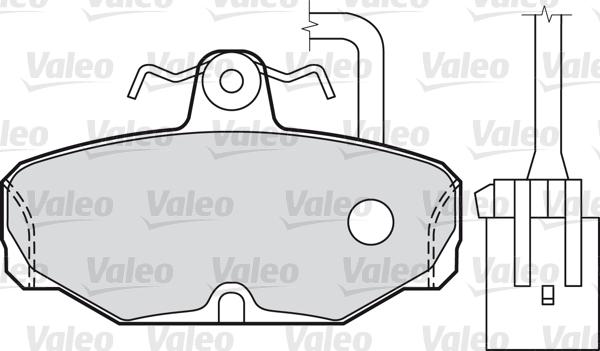 Kit de plaquettes de frein, frein à disque - VALEO - 598312
