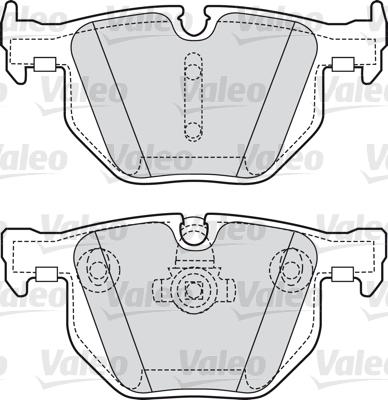 Kit de plaquettes de frein, frein à disque - VALEO - 598754